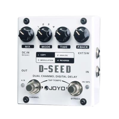 JOYO D-Seed Dual Channel Delay Analog Digital Reverse + Tap Tempo 4 Modes Copy Modulation