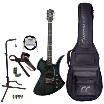 BC Rich Guitars Mockingbird Legacy ST Electric Guitar with Floyd Rose, Case, Strap, and Stand, Black Burst for sale