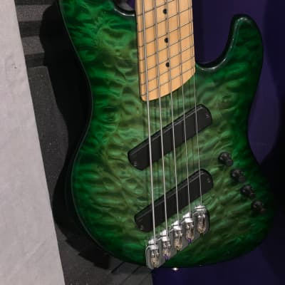 Dingwall Super J 5 Custom Exotic Translucent green burst for sale
