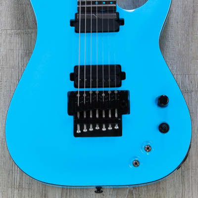 Schecter KM-7 FR S Keith Merrow Signature 7-String Sustaniac w/ Floyd Rose Lambo Blue for sale