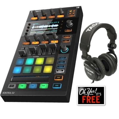 Native Instruments Traktor Kontrol D2 DJ Controller + Free Tascam DJ Headphone