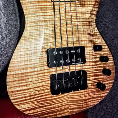 Jackson USA Custom Shop 5 String Bass Maple/Koa for sale