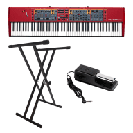 Nord Stage 2 EX 88 Hammer Action Keyboard With Roland DP-10 Digital Piano Damper Pedal and Stand