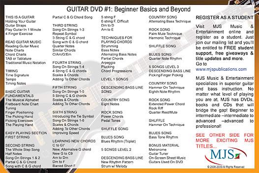 #1 GUITAR DVD Beginner Basics and Beyond Fast Fun Easy 1 5 MILLION SOLD