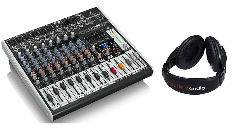 behringer x1222usb mixer w resident audio r100 headphones reverb. Black Bedroom Furniture Sets. Home Design Ideas