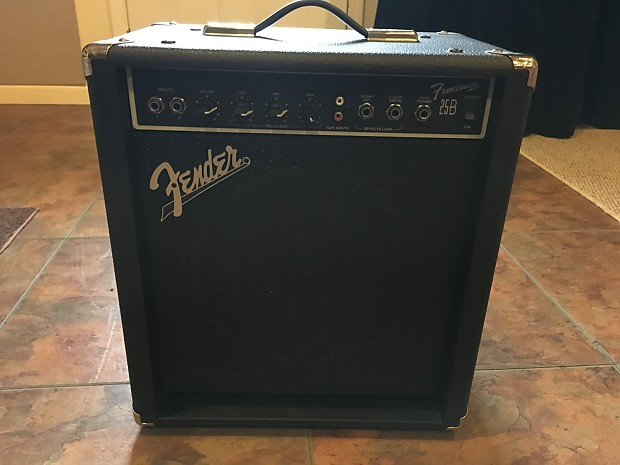 fender frontman 25b electric bass guitar amp amplifier reverb. Black Bedroom Furniture Sets. Home Design Ideas
