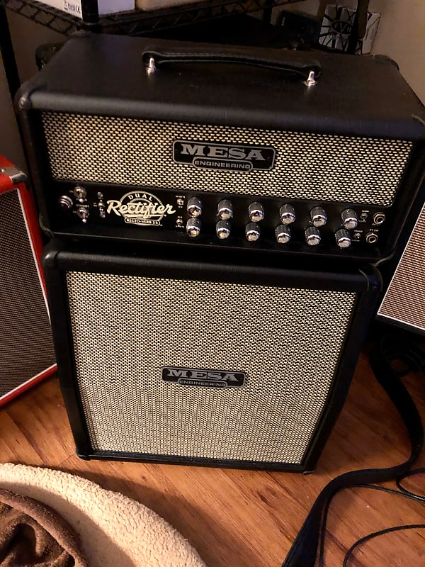 mesa boogie rectoverb 25 head with cabinet reverb. Black Bedroom Furniture Sets. Home Design Ideas