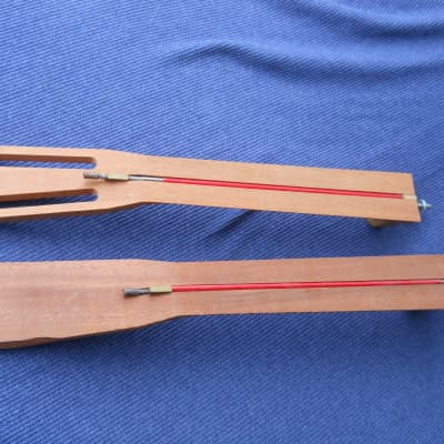 PAIR of StewMac Reson. Style Guitar NECKS Bolt-On + 2 Slotted Fingerboards + 2 HotShot Truss Rods for sale
