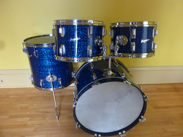 Rogers Holiday 4pc Kit 1960 S Blue Onyx Reverb