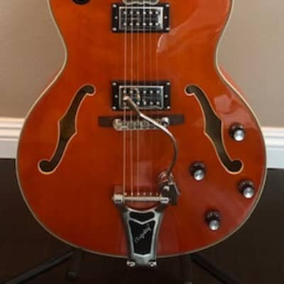 Epiphone Emperor Swingster Orange with hardshell case for sale
