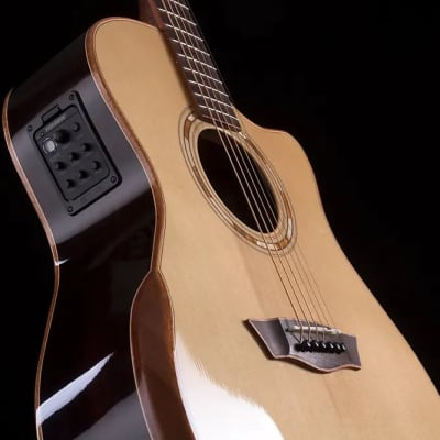 Musical Instruments & Gear Washburn Wlg16s Grand Auditorium 6-string Acoustic Guitar Natural