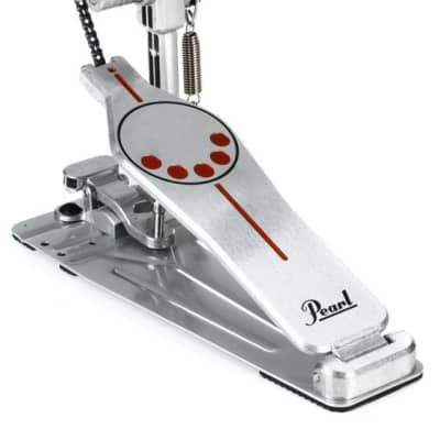 Pearl P-930 Demonator Chain-Drive Longboard Single Bass Drum Pedal Silver