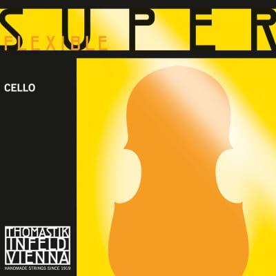 Thomastik-Infeld 794 SuperFlexible Chrome Wound Rope Core 3/4 Cello String Set - Medium