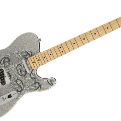 Fender Brad Paisley Road Worn Telecaster, Electric Guitar, Maple Fingerboard, Silver Sparkle for sale
