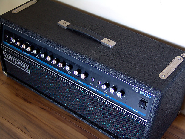 ampeg ss140c stereo guitar amp head great condition reverb. Black Bedroom Furniture Sets. Home Design Ideas