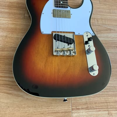 Sunburst Double Bound Tele HS with Fender American Professional II Telecaster Rosewood Neck USA