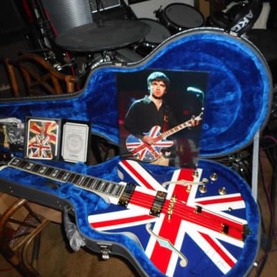 Epiphone Union Jack Sheraton reissue signed by  Noel Gallagher  Union Jack