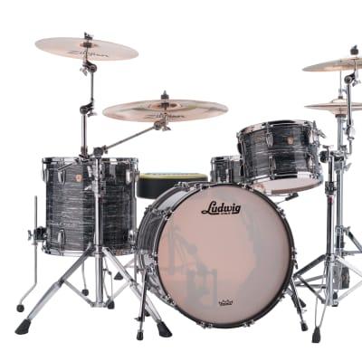 Ludwig Classic Maple Vintage Black Oyster Fab 14x22_9x13_16x16 Custom Kit Drum Set Authorized Dealer