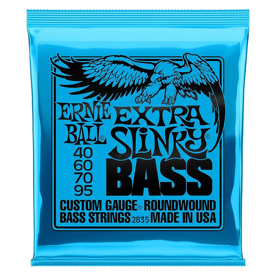 2 Pack Ernie Ball 2844 Super Slinky Bass Guitar Strings 45-100 Ships FREE U.S