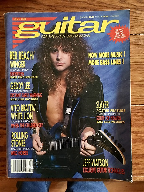 Guitar for The Practicing Musician July 1989 issue with Reb Beach on the  cover