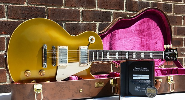 f7f1db89ae Description  Shop Policies. 2014 Gibson Custom Shop Historic Reissue Les  Paul 1957 Reissue R7 Gold Top VOS