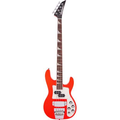 Jackson X Series Concert Bass CBXNT DX IV, Rocket Red Electric Bass Guitar for sale