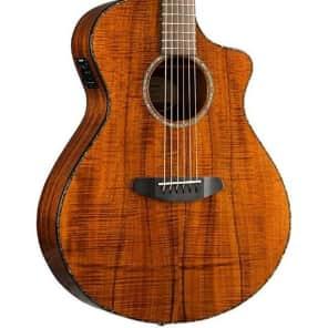 Breedlove Pursuit Exotic Concert CE Koa-Koa Acoustic-Electric Guitar Gloss Natural