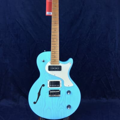 PJD Guitars Carey Standard in Bright Blue with Bareknuckle Pickups for sale
