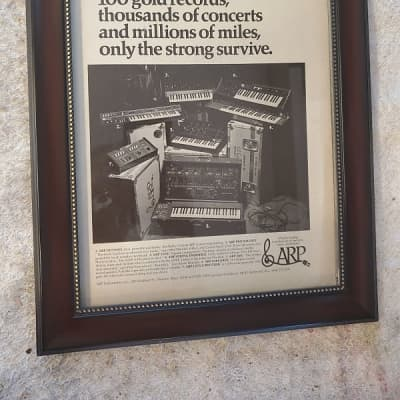 1976 ARP Synthesizers Promotional Ad Framed ARP Odyssey, Pro Soloist, Axxe, 2600, & Others Original