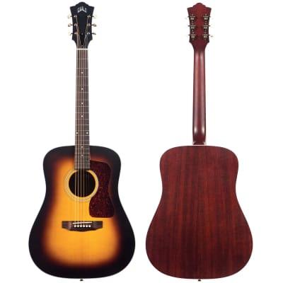 Guild USA D-40 Solid Spruce Top Dreadnought Acoustic Guitar, Antique Sunburst
