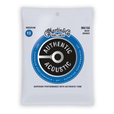 Martin Authentic Acoustic Strings Bronze 80/20 Medium 13-56 MA150