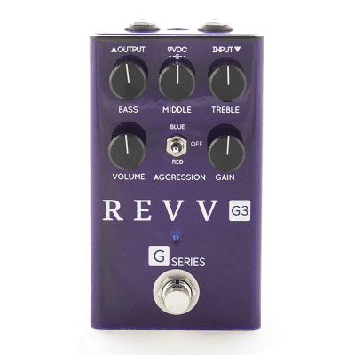[FREE Intl Shipping] REVV G3 Distortion Crunch Rock Focused Overdrive High Gain Lead