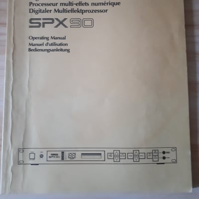 Yamaha Digital Multi-Effect Processor SPX90 Operating Manual in English/French/German
