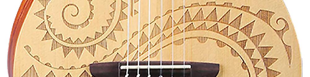 Luna Tattoo 6 String Baritone Ukulele Reverb