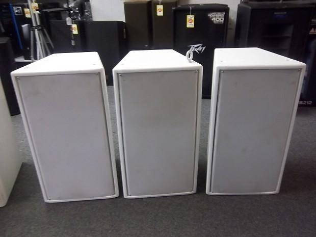 Community Solutions SLS 920 3 Way Professional Grade Loudspeakers White Set  of 3