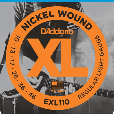D'Addario EXL110 Nickel Wound Light Electric Guitar Strings 10-46