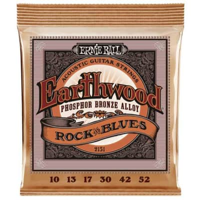 Ernie Ball 2151 Earthwood Rock and Blues Phosphor Bronze 10-52 Gauge Acoustic Guitar Strings for sale
