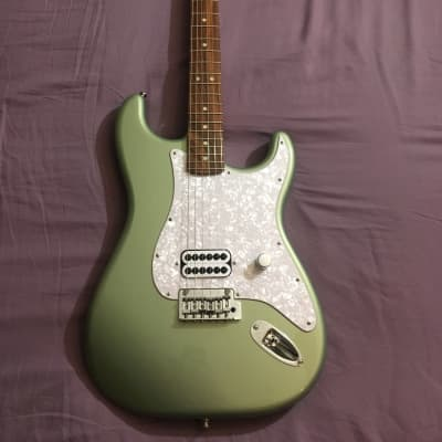 Sage Green Metallic Tom Delonge Style Fender Deluxe Stratocaster/Partscaster