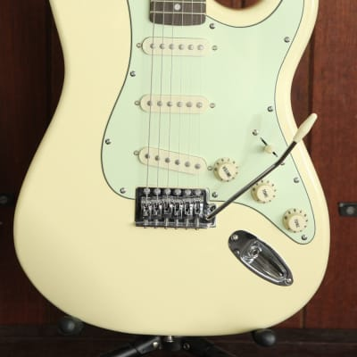 SX Vintage Style Electric Guitar Aged White with Bag for sale