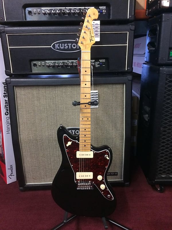 tagima tw 61 gloss black jazzmaster style electric guitar reverb. Black Bedroom Furniture Sets. Home Design Ideas