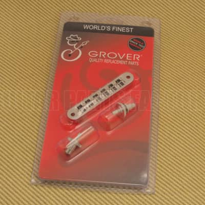 520N Grover Nickel Nashville Tune-o-matic Guitar Bridge Retro Fits USA Gibson for sale