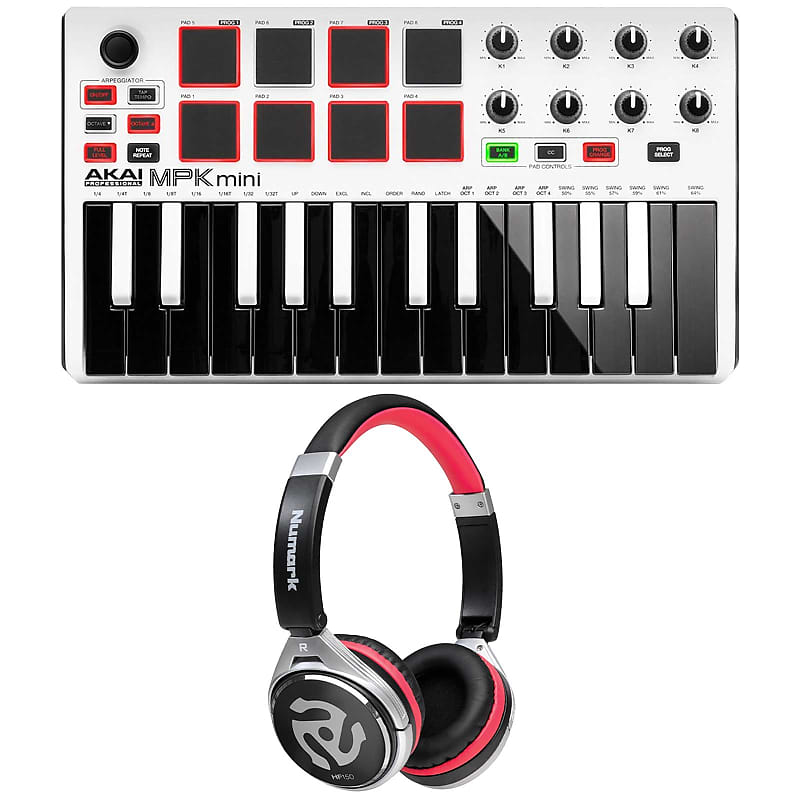 akai mpk mini mkii mk2 white 25 key compact usb midi keyboard reverb. Black Bedroom Furniture Sets. Home Design Ideas