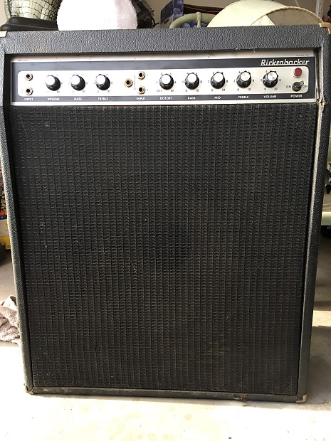 rickenbacker vintage bass guitar amp stereo 70 39 s black reverb. Black Bedroom Furniture Sets. Home Design Ideas