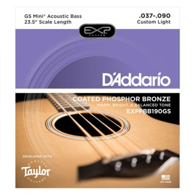 D'Addario Coated Phosphor Bronze Strings for Taylor GS Mini Acoustic Bass - 37-90