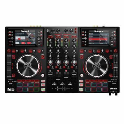 Numark NVII  DJ Controller for Serato DJ w/ Intelligent Dual-Display Screens & Touch-Capacitive Knob