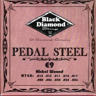 MPN 740 Black Diamond Nickel Wound Pedal Steel String Set, 10 String, E9 Tuning for sale