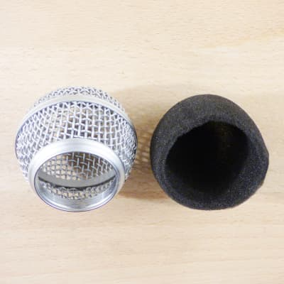 Microphone Inner Windscreen - Black - Fits Shure SM58, Beta 58A, SM48, PG58 & Others - For Vocal Mic