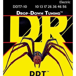 DR DDT7-10 Drop Down Tuning 7-String Medium Electric Guitar Strings (10-56)