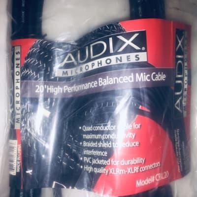 Audix CBL20 XLRf-XLRm Microphone Cable