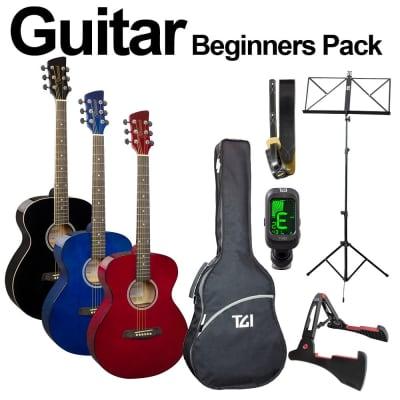Brunswick + TGI Acoustic Guitar Beginners Pack - Blue for sale